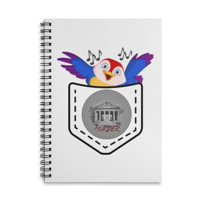 Pocket Robin Accessories Lined Spiral Notebook by True Crime Comedy Team Shop