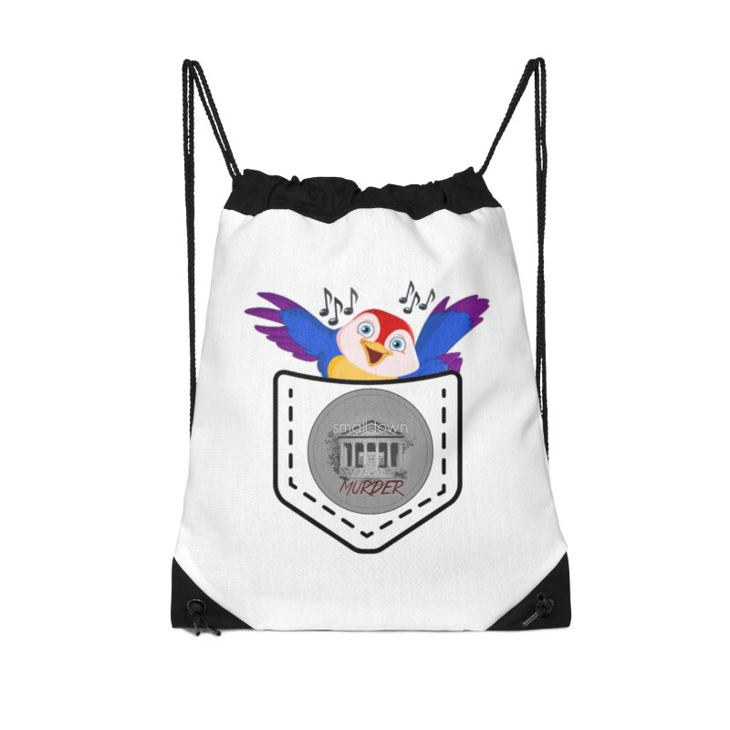 Pocket Robin Accessories Drawstring Bag Bag by True Crime Comedy Team Shop
