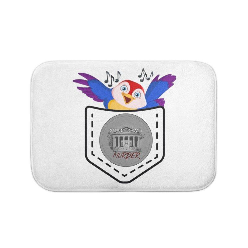 Pocket Robin Home Bath Mat by True Crime Comedy Team Shop