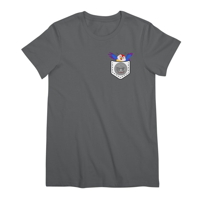 Pocket Robin Women's Premium T-Shirt by True Crime Comedy Team Shop
