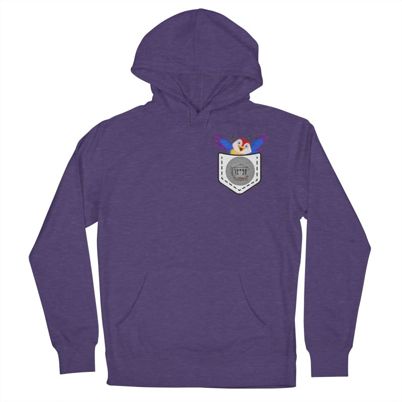 Pocket Robin Women's French Terry Pullover Hoody by True Crime Comedy Team Shop