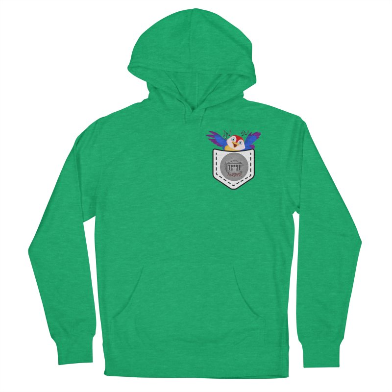 Pocket Robin Men's French Terry Pullover Hoody by True Crime Comedy Team Shop