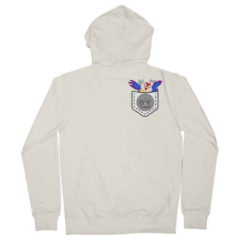 Pocket Robin Men's French Terry Zip-Up Hoody by True Crime Comedy Team Shop