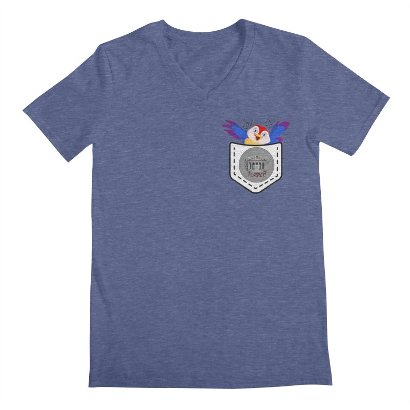 Pocket Robin Men's Regular V-Neck by True Crime Comedy Team Shop