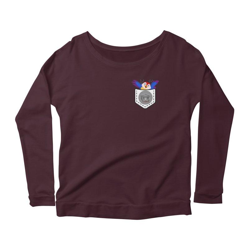 Pocket Robin Women's Scoop Neck Longsleeve T-Shirt by True Crime Comedy Team Shop