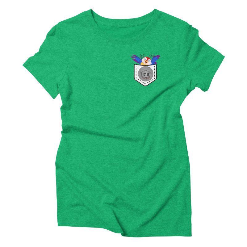 Pocket Robin Women's Triblend T-Shirt by True Crime Comedy Team Shop