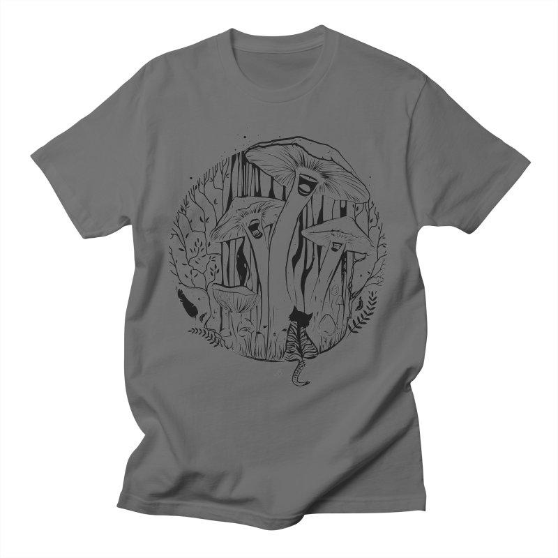 The Singing Mushrooms & The Zebra Cat Men's T-Shirt by cristinastefan's Artist Shop