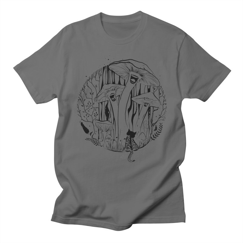 The Singing Mushrooms & The Zebra Cat Men's T-Shirt by cristinastefan's Artist Shop