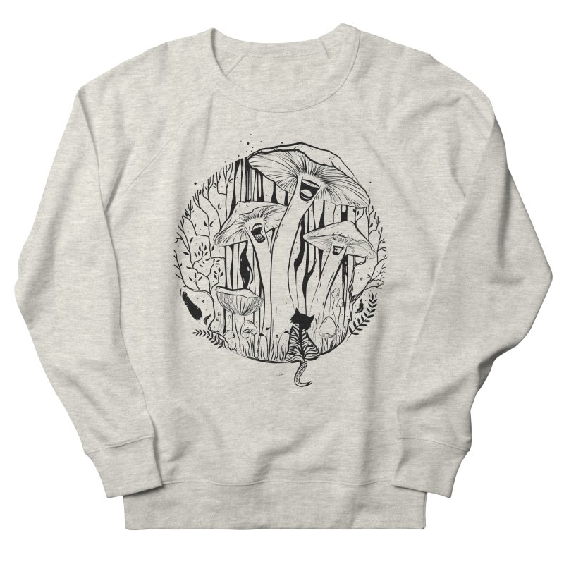 The Singing Mushrooms & The Zebra Cat Women's Sweatshirt by cristinastefan's Artist Shop