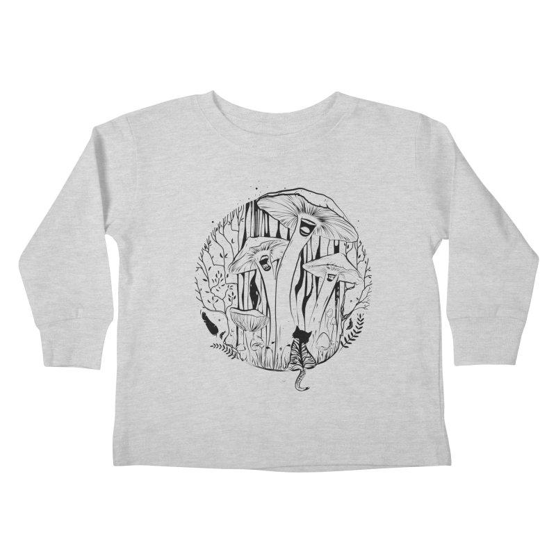 The Singing Mushrooms & The Zebra Cat Kids Toddler Longsleeve T-Shirt by cristinastefan's Artist Shop