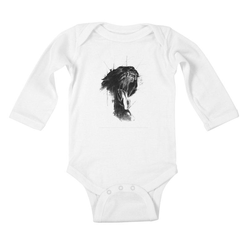 The Untamed Kids Baby Longsleeve Bodysuit by cristinastefan's Artist Shop