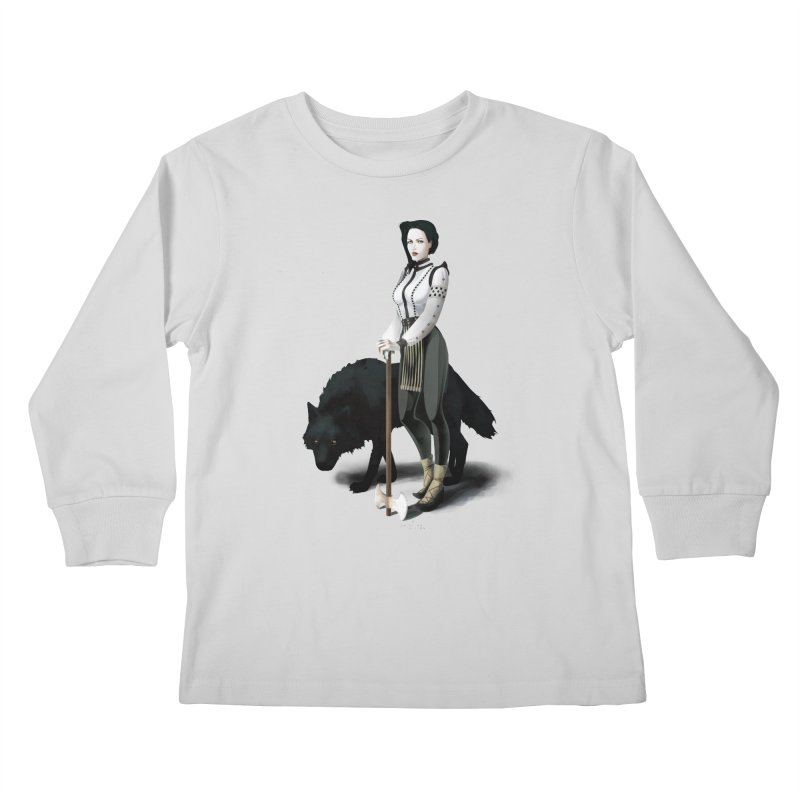 The Hatchet League - Vitoria Kids Longsleeve T-Shirt by cristinastefan's Artist Shop
