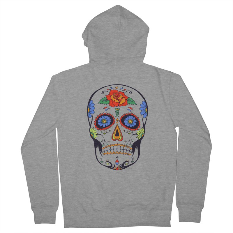 Sugar skull Men's Zip-Up Hoody by cristiscg's Artist Shop