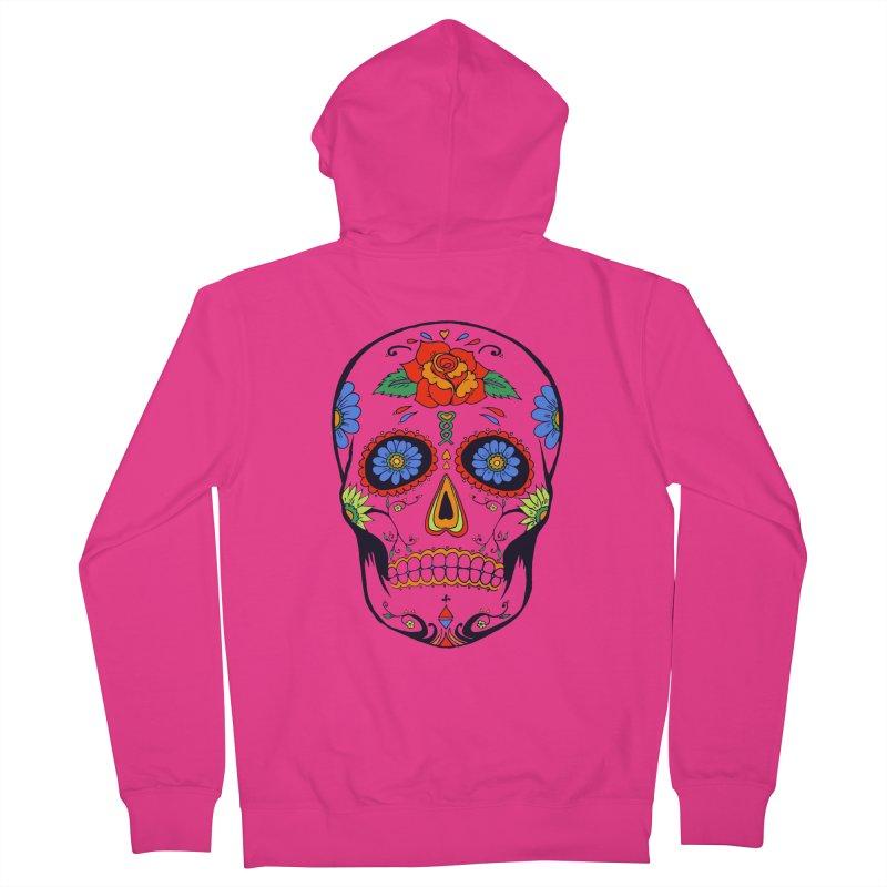 Sugar skull Men's Zip-Up Hoody by cristiscg's Artist Shop