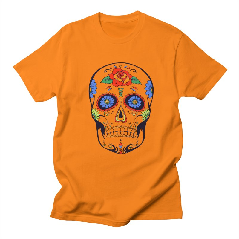 Sugar skull Men's T-Shirt by cristiscg's Artist Shop