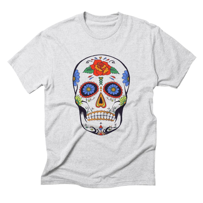 Sugar skull Men's Triblend T-shirt by cristiscg's Artist Shop