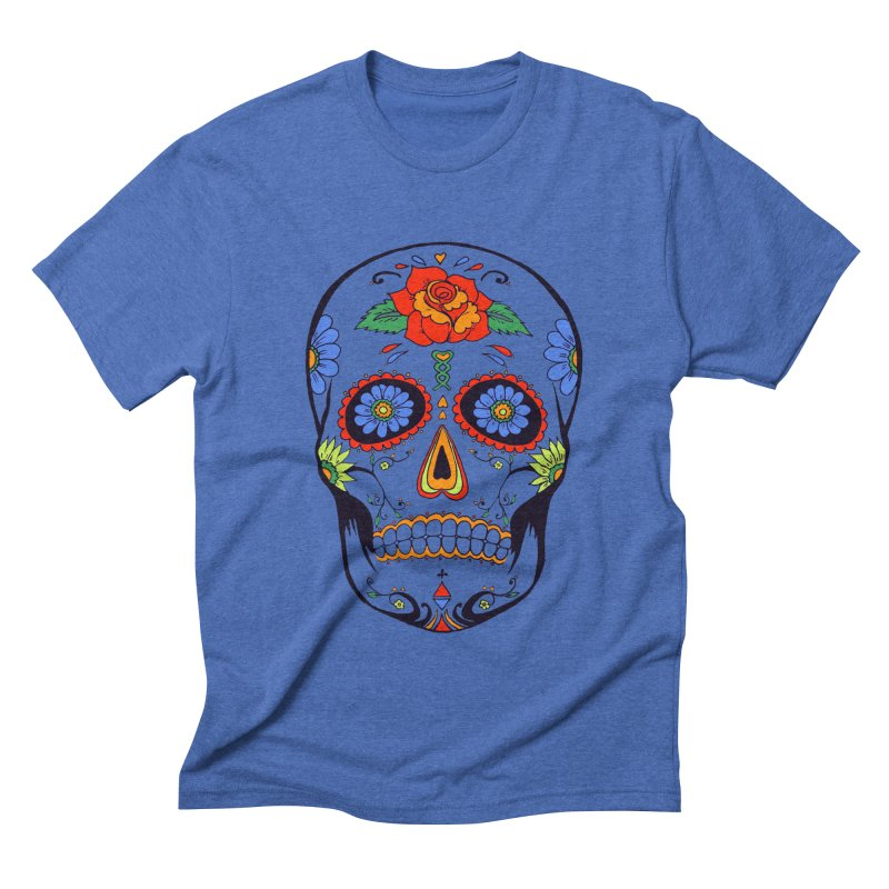 Sugar skull Men's Triblend T-shirt by cristiscg's Artist Shop