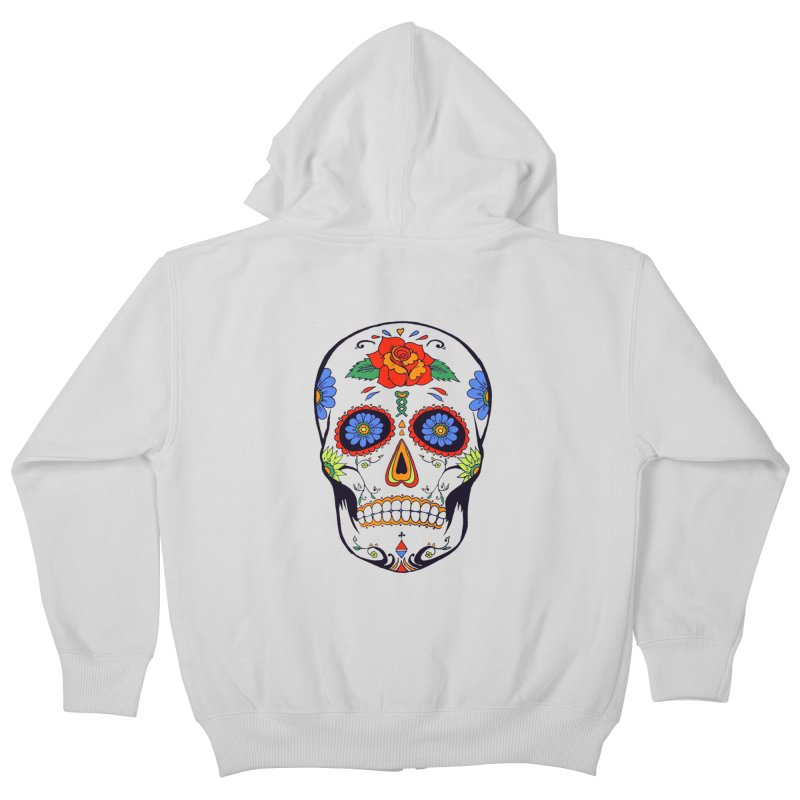 Sugar skull Kids Zip-Up Hoody by cristiscg's Artist Shop