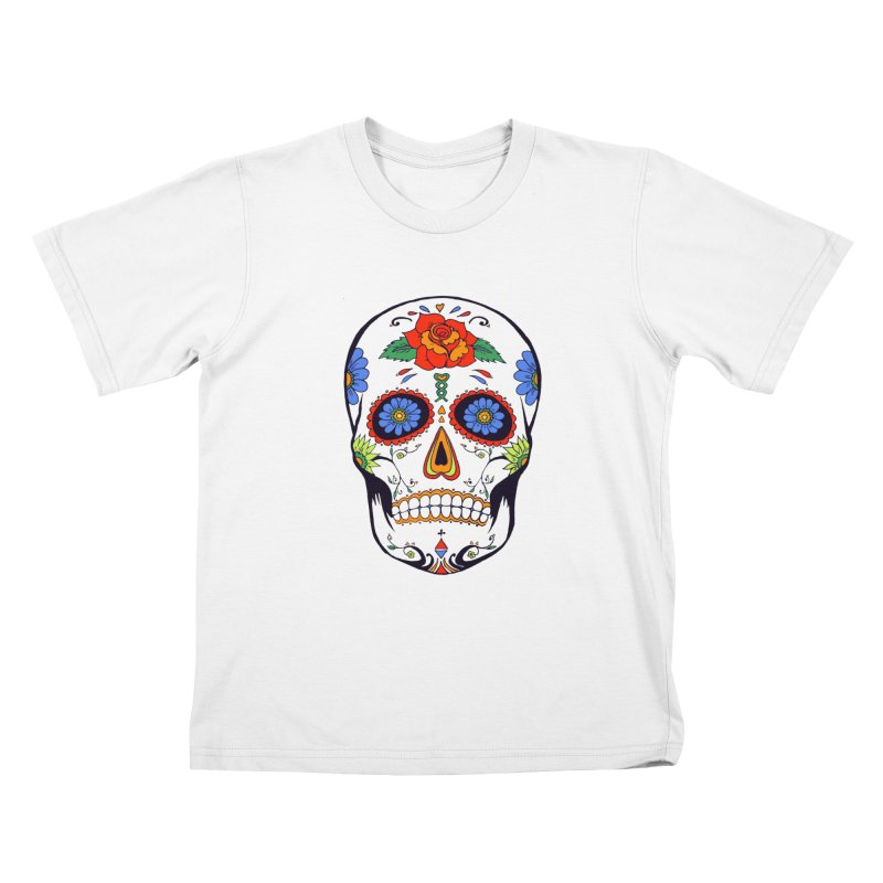 Sugar skull Kids T-shirt by cristiscg's Artist Shop