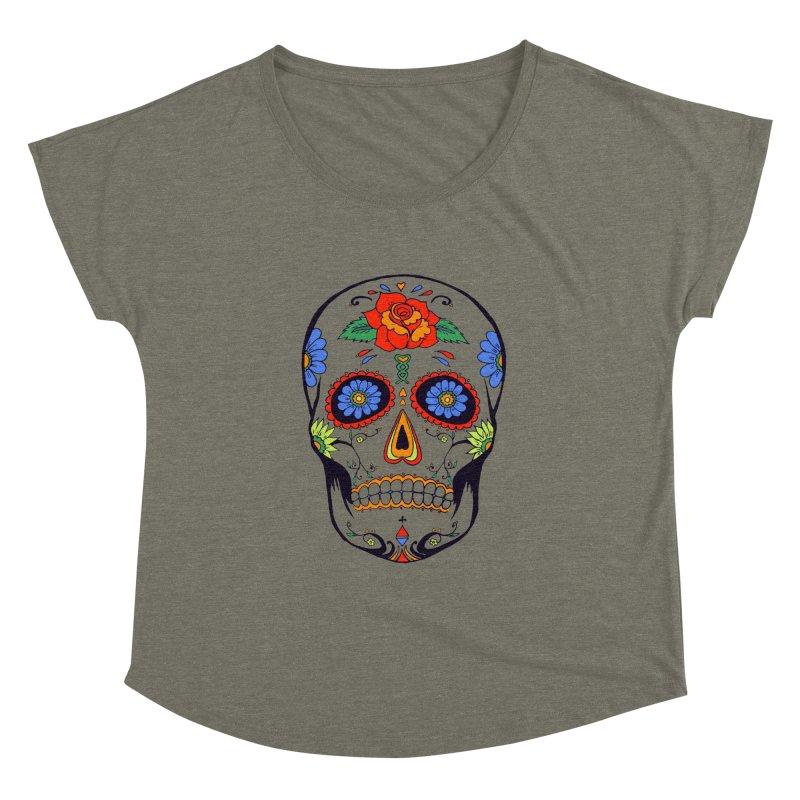 Sugar skull Women's Dolman by cristiscg's Artist Shop