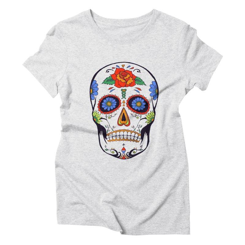 Sugar skull Women's Triblend T-Shirt by cristiscg's Artist Shop