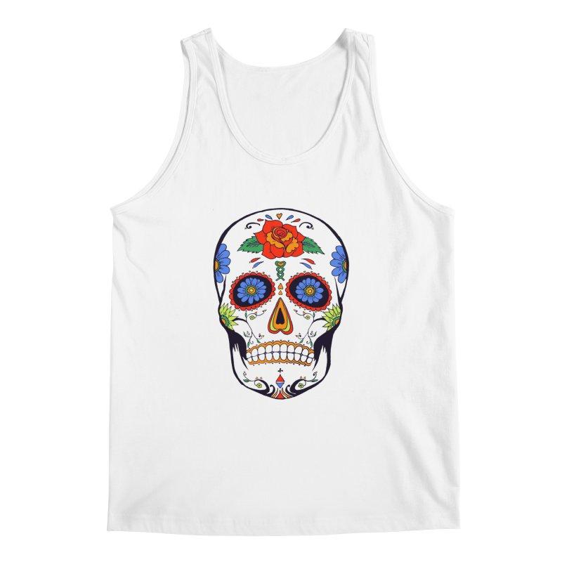Sugar skull Men's Tank by cristiscg's Artist Shop