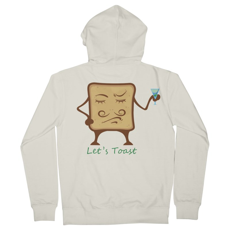 Toast Men's Zip-Up Hoody by cristiscg's Artist Shop