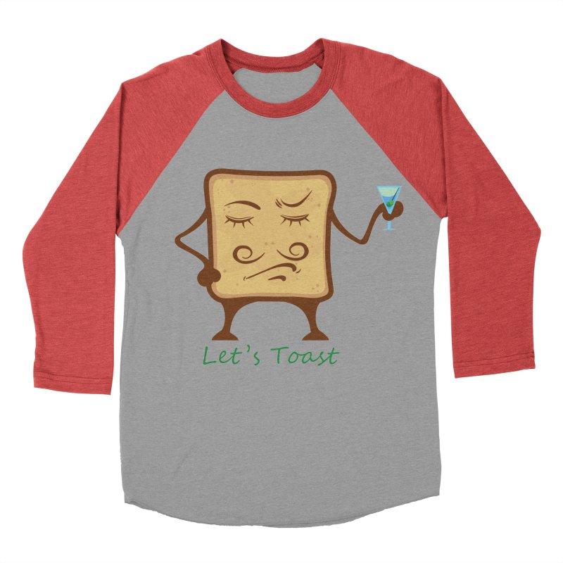 Toast Men's Baseball Triblend T-Shirt by cristiscg's Artist Shop
