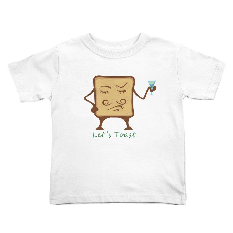 Toast Kids Toddler T-Shirt by cristiscg's Artist Shop