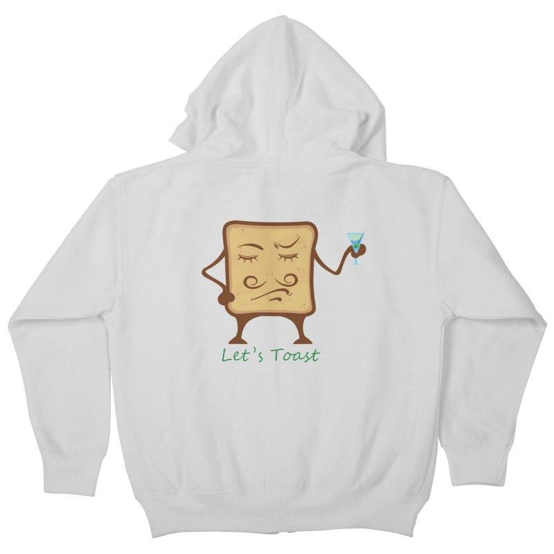 Toast Kids Zip-Up Hoody by cristiscg's Artist Shop