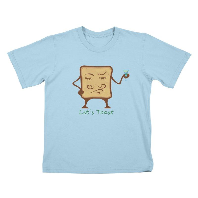 Toast Kids T-shirt by cristiscg's Artist Shop