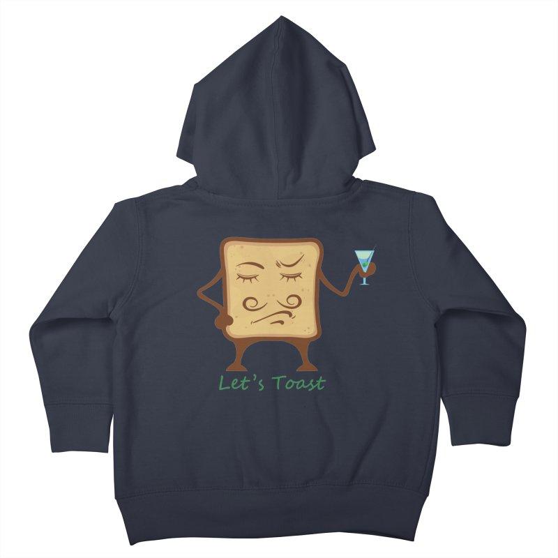 Toast Kids Toddler Zip-Up Hoody by cristiscg's Artist Shop