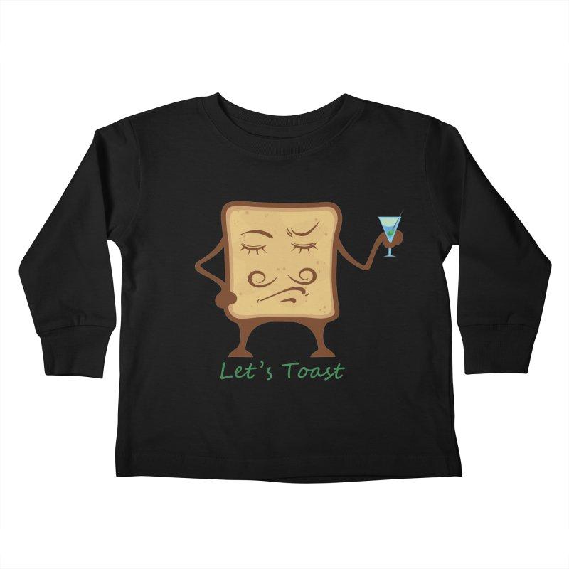 Toast Kids Toddler Longsleeve T-Shirt by cristiscg's Artist Shop