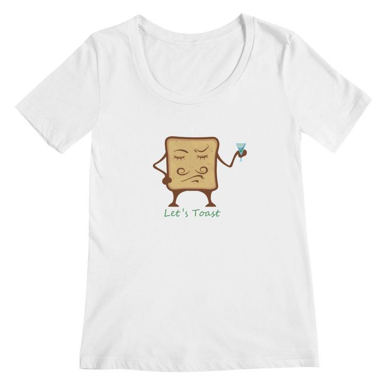 Toast Women's Scoopneck by cristiscg's Artist Shop