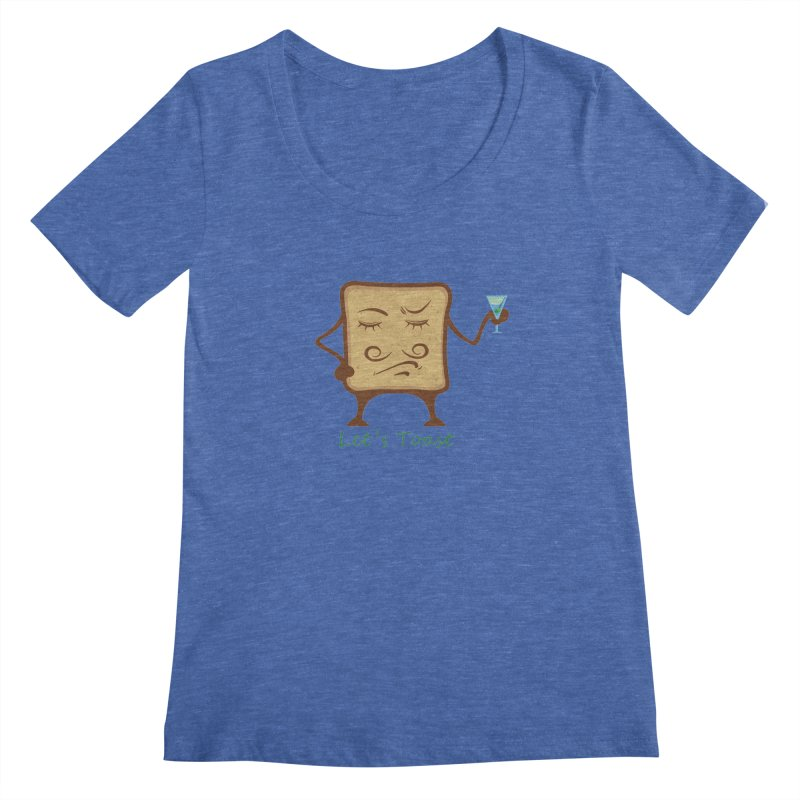 Toast Women's Scoopneck by cristiscg's Artist Shop