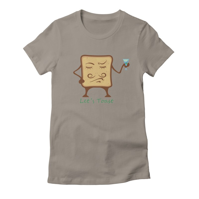 Toast Women's Fitted T-Shirt by cristiscg's Artist Shop