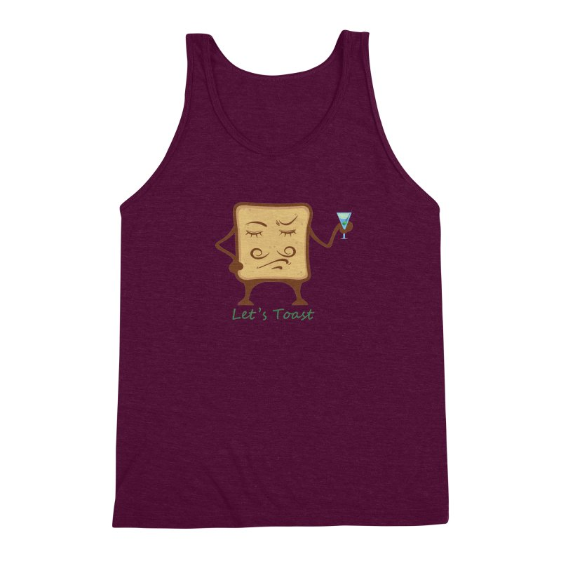 Toast Men's Triblend Tank by cristiscg's Artist Shop