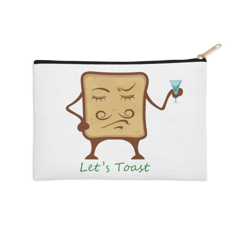 Toast Accessories Zip Pouch by cristiscg's Artist Shop