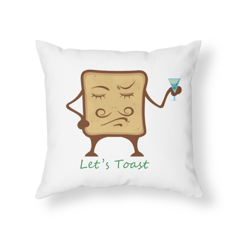 Toast Home Throw Pillow by cristiscg's Artist Shop