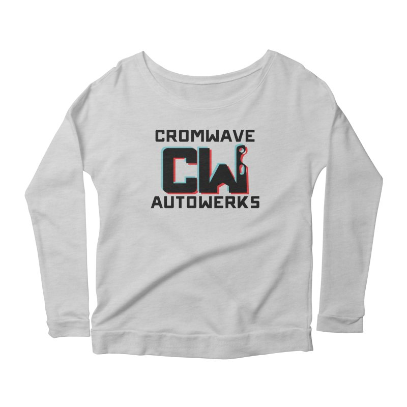 Cromwave 3D Shirt Women's Scoop Neck Longsleeve T-Shirt by Cromwave Autowerks