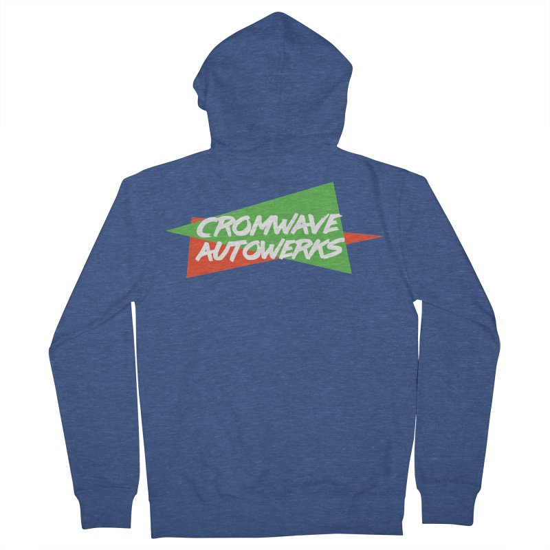 Retro Cromwave Men's French Terry Zip-Up Hoody by Cromwave Autowerks