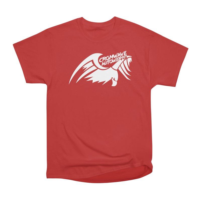 Cromwave Bird White Women's Heavyweight Unisex T-Shirt by Cromwave Autowerks