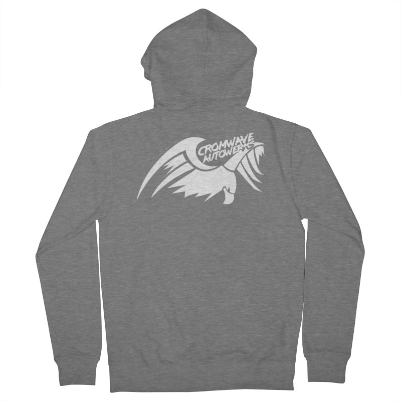 Cromwave Bird White Men's French Terry Zip-Up Hoody by Cromwave Autowerks