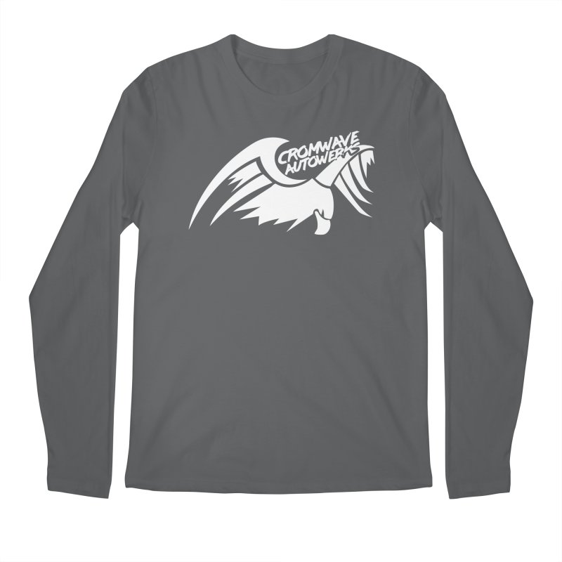 Cromwave Bird White Men's Regular Longsleeve T-Shirt by Cromwave Autowerks