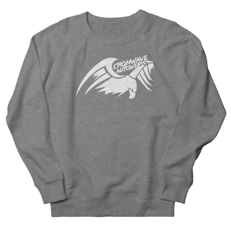 Cromwave Bird White Men's French Terry Sweatshirt by Cromwave Autowerks
