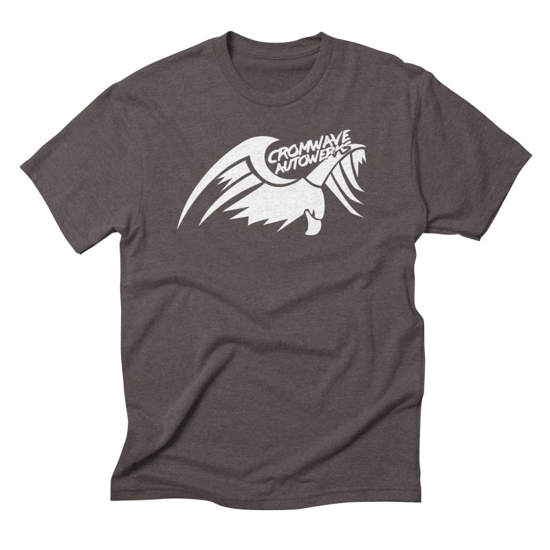 Cromwave Bird White Men's Triblend T-Shirt by Cromwave Autowerks
