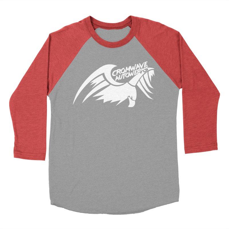Cromwave Bird White Men's Baseball Triblend Longsleeve T-Shirt by Cromwave Autowerks