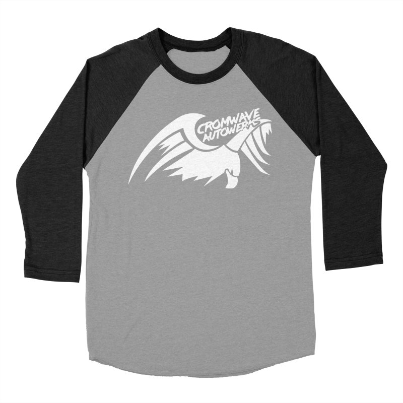 Cromwave Bird White Men's Baseball Triblend Longsleeve T-Shirt by Cromwave Autowerks