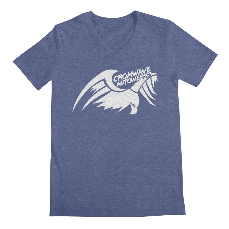 Cromwave Bird White Men's Regular V-Neck by Cromwave Autowerks