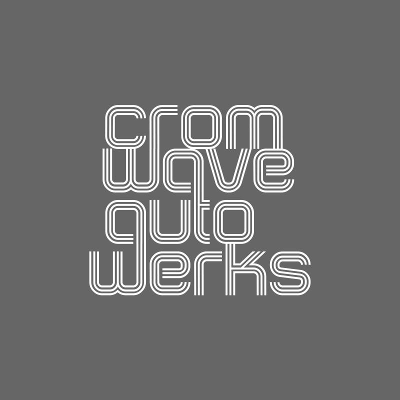 Cromwave Classic White Men's Longsleeve T-Shirt by Cromwave Autowerks